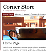 Corner Store - Template Screenshot